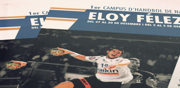 poster «1er  Campus balonmano de navidad Eloy Felez»