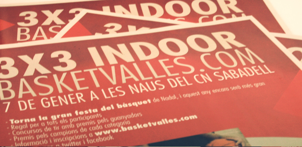 Poster 3X3 Indoor Sabadell Basket Valles 2012